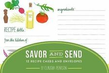Savor and Send : 12 Recipe Cards and Envelopes (2014, Print, Other)