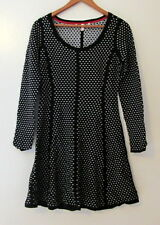 Victoria's Secret Kiss of Cashmere Jacquard Sweater Dress Black/Gray -Size S/P