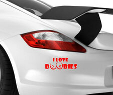 I Love Boobies Funny Car Art Novelty Bumper Window Vinyl Decal Sticker Drift