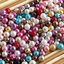 Lot 500/SET Multicolor Round Glass Pearl Loose Beads Jewelry DIY 4mm HOT