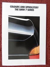 BMW 7 serie 1991 1992 mercato britannico Colori & Tappezzeria opuscolo