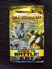 Redakai Conquer the Kairu - Gold Pack - 6 X-Drives Plus 1 Rare Card BNIP sealed