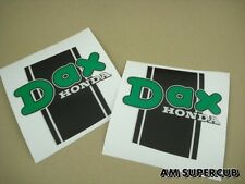 Honda Dax white 50 70  CT70 ST50 ST70 ST90 Tank Stickers Frame  / A pair