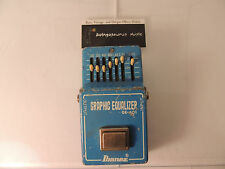 VINTAGE IBANEZ GE-601 GRAPHIC EQUALIZER EFFECTS PEDAL EQ 1981 ORIGINAL