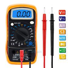 NEW Digital Voltmeter Ammeter Ohmmeter Multimeter Volt AC DC Tester Meter