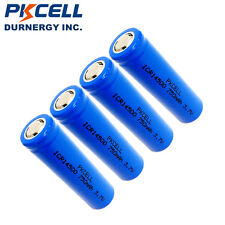4 PCS 750mAh 3.7V ICR14500 Rechargeable Li-ion Battery High quality PKCELL