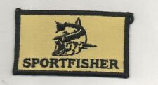 SPORTFISHER Fishing Cloth Woven Badge BRAND NEW UNUSED