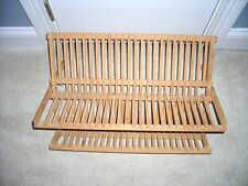 WOOD DISH DRYING RACK w/shelf for cups, etc.