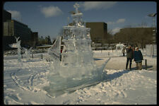 665017 Sailing Ship Ice Sculpture Ottawa Ontario Canada A4 Photo Print