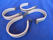 "4 Fascette fissaggio  2"" (mm.50) alu / teflon EAB700 D33 Aircraft Clamps NEW NOS"