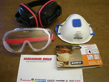 Chainsaw Gardening Multi Purpose Safety Kit Goggles Ear Muffs Filter Dust Mask