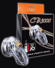 "CB-3000 3"" Cock Cage and Lock Set - Clear Authentic Penis Cage Male Chastity Dev"
