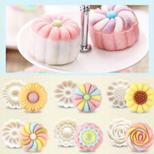 50g Round Cake Mold Pastry Biscuit Mould Fower Moon Cake Decor Baking Tools AS ま