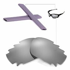 New Walleva Vented Titanium Lenses Grey Earsocks 4 Oakley Jawbone