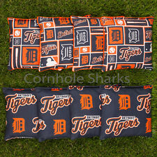 Cornhole Bean Bags Set of 8 ACA Regulation Bags Detroit Tigers Free Shipping