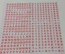 400 Numbers Letters Self Adhesive Peel Off Sticker Alphabet Digit Stick On + - x