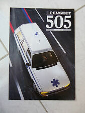 Peugeot 505 Ambulance Break 1988 - catalogue brochure dépliant prospekt