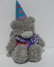 ME TO YOU TATTY TEDDY BEAR Clown Outfit CARTE BLANCHE Purple Bow Tie BLUE NOSE