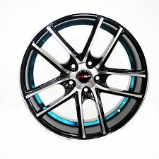 4 GWG Wheels 18 inch Black Blue UnderCut Rims fits 5x115 ET40 PONTIAC MONTANA