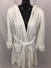 Juicy Couture White 100% Cotton Size M Sleepwear Lounge Robe NWT