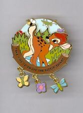 Disney Time to Enjoy the Little Things Bambi Butterfly Ladybug Spinner LE500 Pin