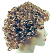 ADULT SHIRLEY TEMPLE DARK BLONDE CURLY WIG COSTUME LW161DBL