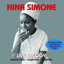 NINA SIMONE - LIVE TRILOGY - VILLAGE GATE - TOWN HALL - AT NEWPORT (NEW 3CD SET)