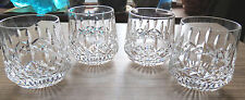 SET of 4 WATERFORD CRYSTAL LISMORE ROLY POLY OLD FASHION TUMBLER GLASSES