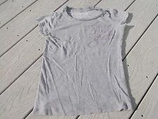 Areopostale Bedazzled Sequin Womens T-Shirt Top Angel's Wings Size XS WOW!!!
