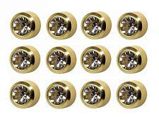 Caflon Ear Piercing Bezel Earrings Studs 4mm April C/Z Gold Plated 12 Pair