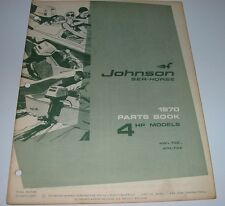 Parts Catalog Johnson Sea Horse Ersatzteilkatalog 4 HP Models Stand 1970!