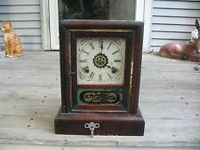 Gilbert Mantle Clock George Owen 1868 Patent 8 Day 30 Hour With Key & Pendulum