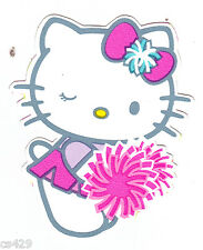 """3.5""""  HELLO KITTY  PEP RALLY CHEER CHARACTER  WALL BORDER PEEL & STICK CUT OUT"""