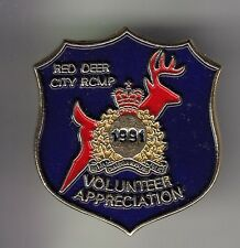 RARE PINS PIN'S .. POLICE RED DEER CITY DAIM TEAM RCMP 1991 CANADA ~DB