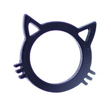Very cool black cat kitten ring, UK Size N