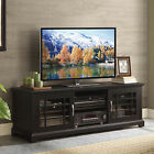 TV Stand Cabinet Console Entertainment Center Media Glass Doors 3 Shelves 70