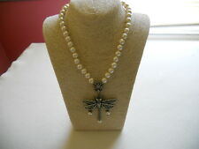 "HEIDI DAUS ""LOVELIEST OF ALL"" SIMULATED PEARL CRYSTAL DRAGONFLY NECKLACE"