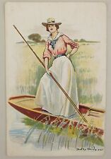 1907 Color Picture Postcard Sporting Girls Artist Signed Series 1504 Posted
