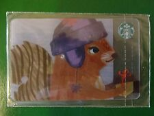 NEW CARD SQUIRREL! RUSSIA, STARBUCKS RUSSIAN CHRISTMAS CARDS,2016,SEALED