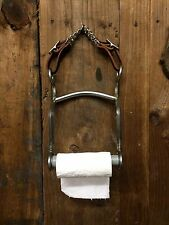 Horse Bit Toilet Paper Holder Western Cabin Bunkhouse Country Wall Rustic