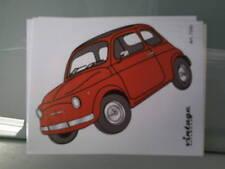 Adesivi Decalcomanie Stickers Vintage effetto d'epoca Fiat 500 Vecchia Mitica