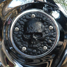Skull points cover (bin laden's grave) in textured black. Harley Twin Cam.PCST-1