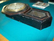 Vintage Old Wall Clock Not Working Regulator Wood Tick Tock Black Wood Rare ?