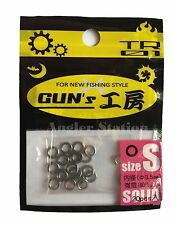 D-Stream TR01 Gun's Round Solid Ring for Jigging size S / 80lb / Ø3.5mm (20pcs)