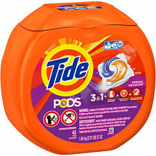 Tide PODS Spring Meadow Scent Laundry Detergent Pacs, 42 count