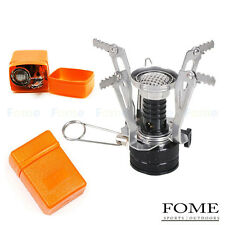 Portable Backpacking Camp Gas-powered Stove Foldable Burner with Piezo Ignition