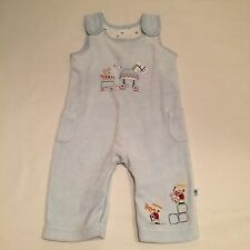 M&S blue velvet horse toys themed dungarees Baby boys clothes 3-6 Months
