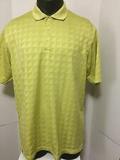 Adidas Climacool Mens Size L Green Short Sleeve Polyester Golf Polo Shirt