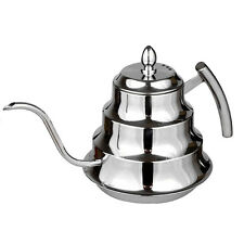 Coffee & Tea Drip Pot -- Pour Over Gooseneck Kettle 1.2 Liter-  Stainless Steel