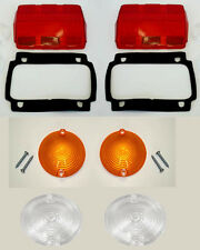 1964-1966 Mustang Lens Kit Parking Tail light back up Lenses with Gaskets